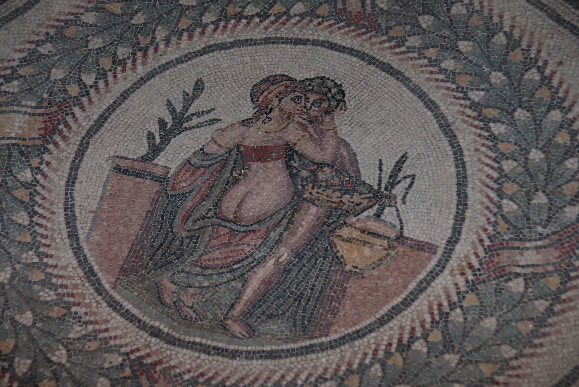 Mosaico en la villa romana de Casale