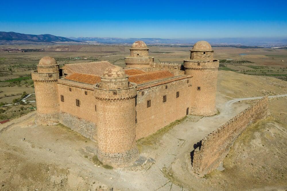 Vista aérea del castillo de La Calahorra