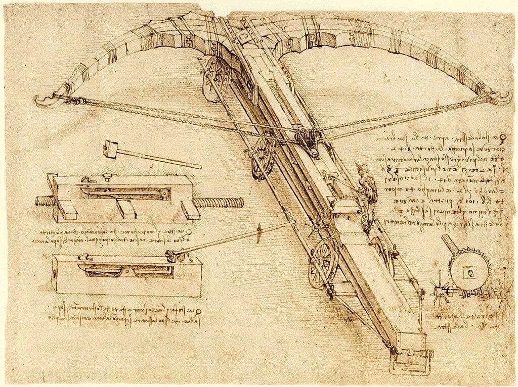 Imagen del Cógice Atlántico en el centenario del fallecimiento de Leonardo da Vinci