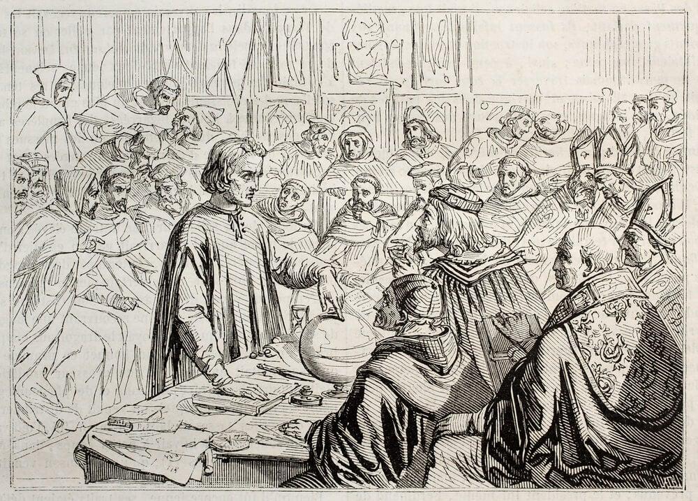 Cuadro con la figura de Colón, precusor de la globalización