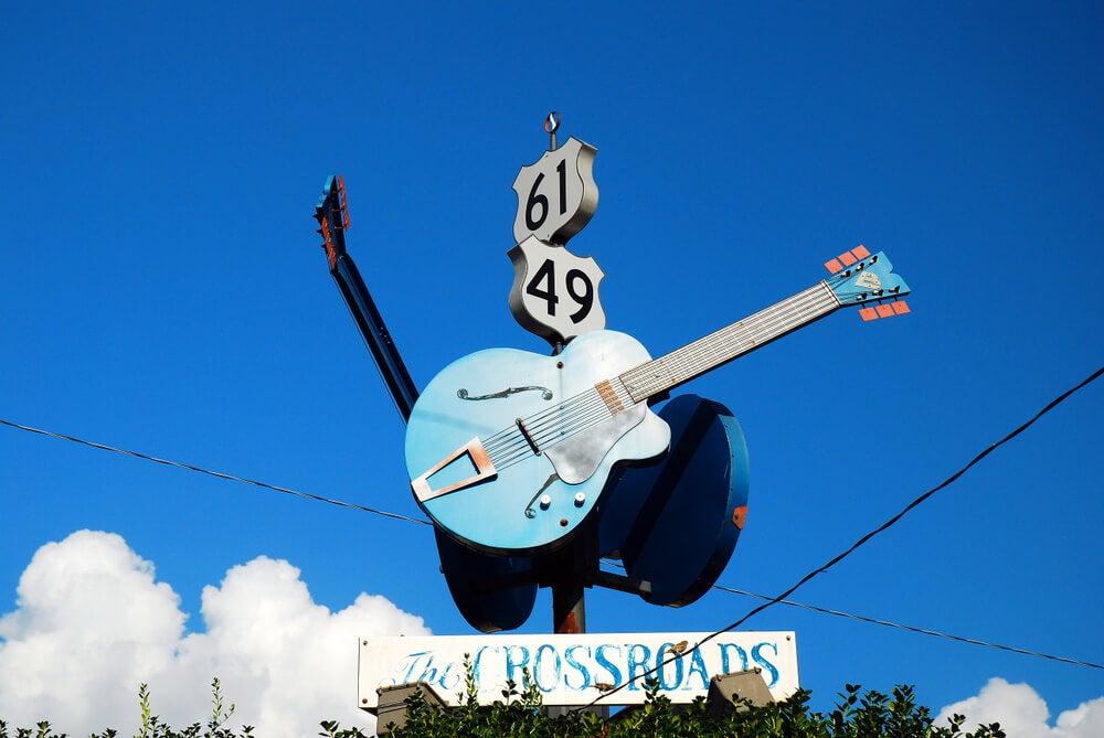Cruce de las ritas 49 y 61 en la ruta del blues