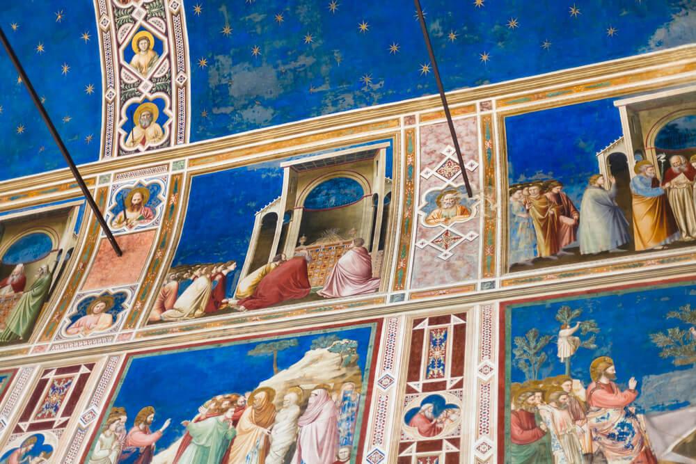 Detalle de los frescos de la capilla Scrovegni