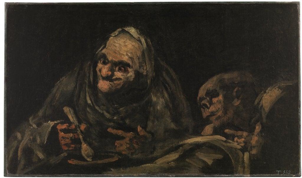 Dos viejos comiendo, de Goya