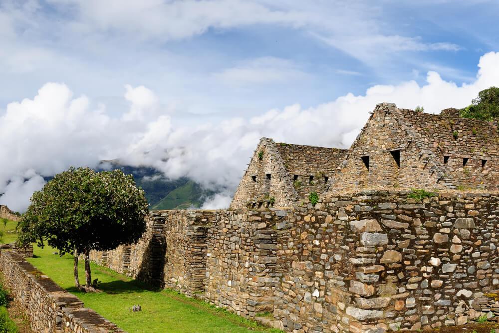 Edificios en el yacimiento arqueológico de Choquequirao
