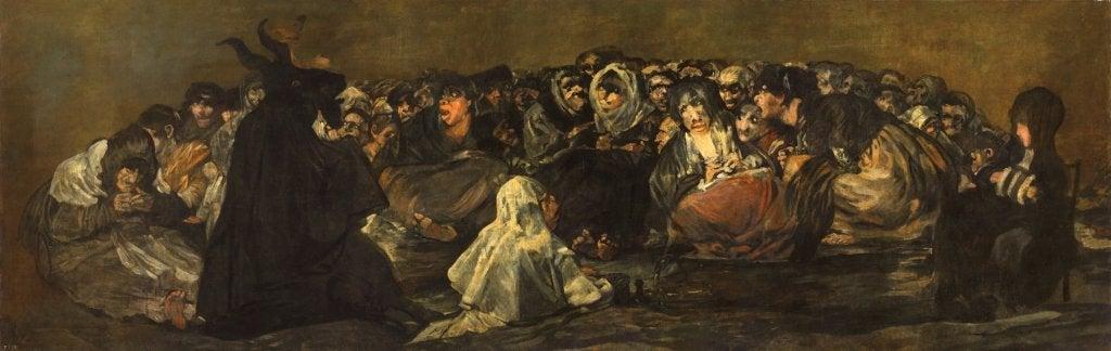El aquelarre, una de las Pinturas negras de Goya