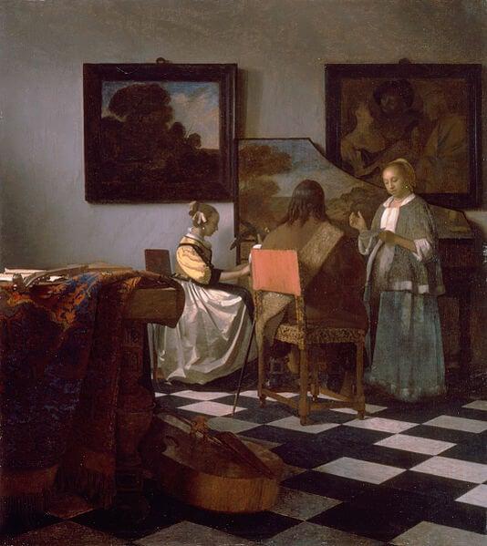 'El concierto' de Vermeer