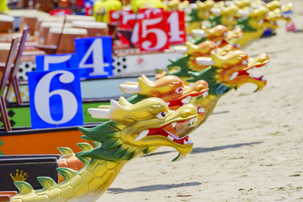 Embarcación del festival de los Botes del Dragón