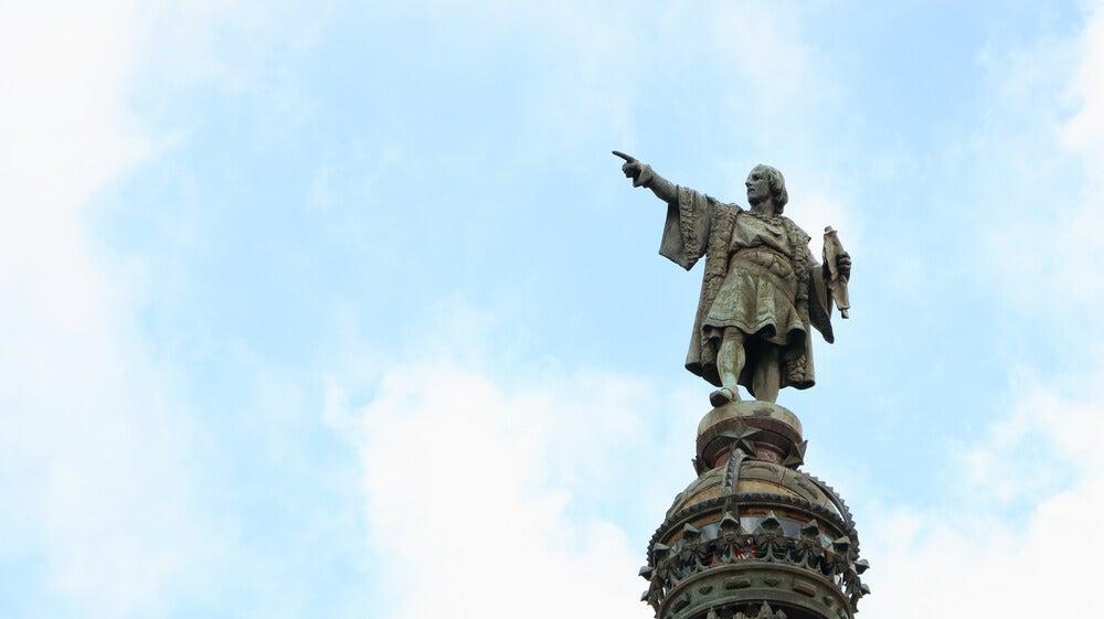 Estatua de Colón, precusor de la globalización