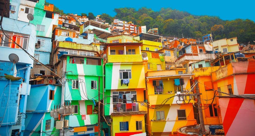 Casas en una favela, otra forma de descubrir Río de Janeiro