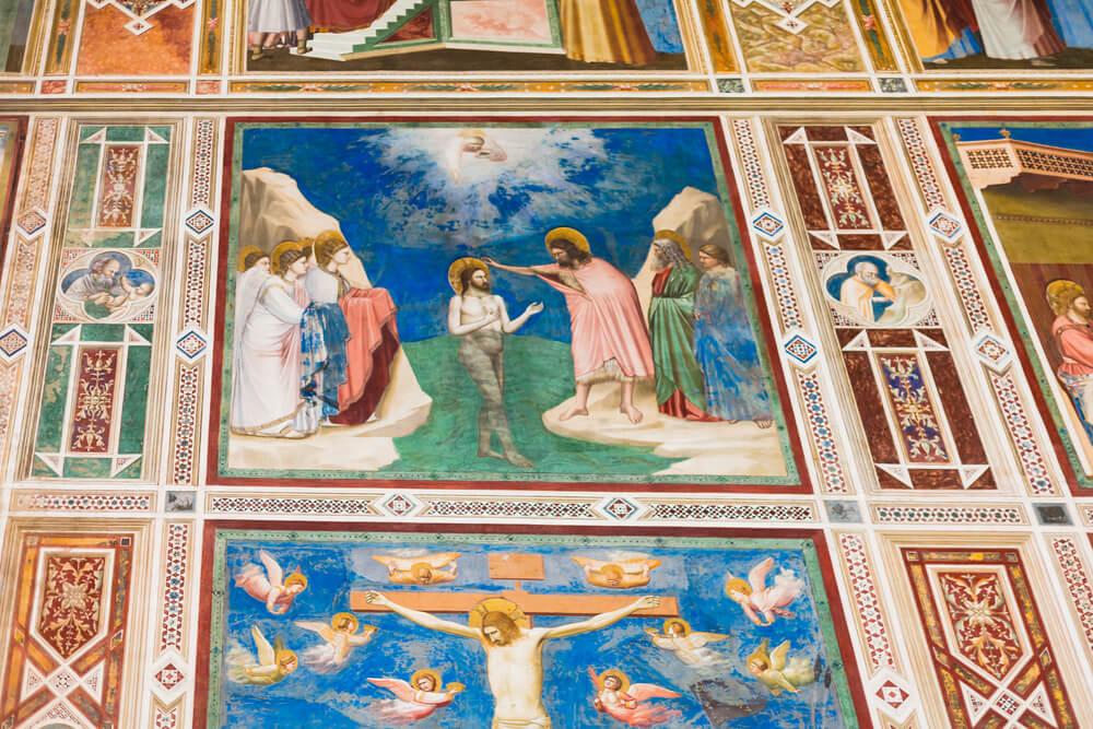 Detalle de los frescos de la capilla