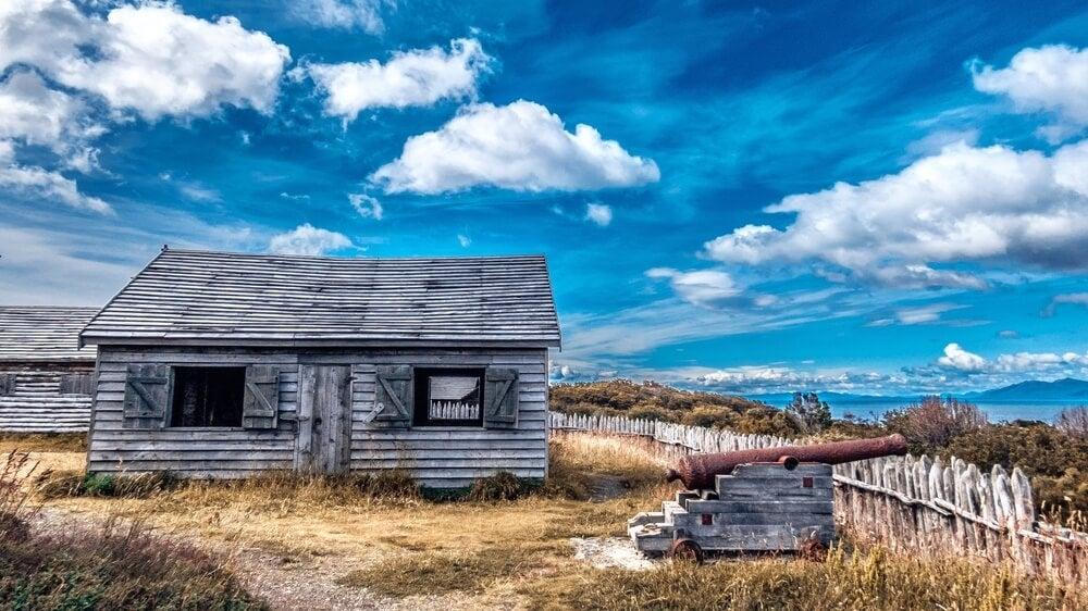 Vista de Fuerte Bulnes en Punta Arenas
