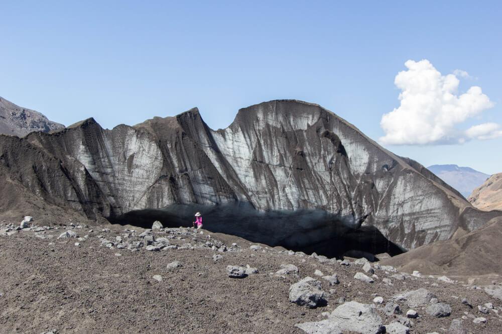 Vista del glaciar Pichillancahue, uno de loo tesoros escondidos de Chile