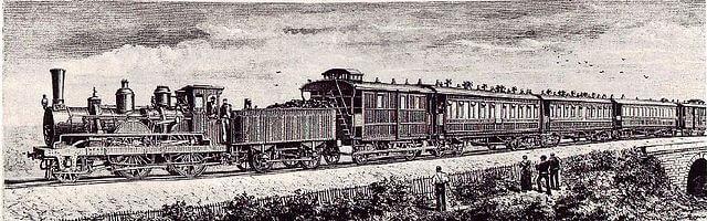 Grabado del Orient Express
