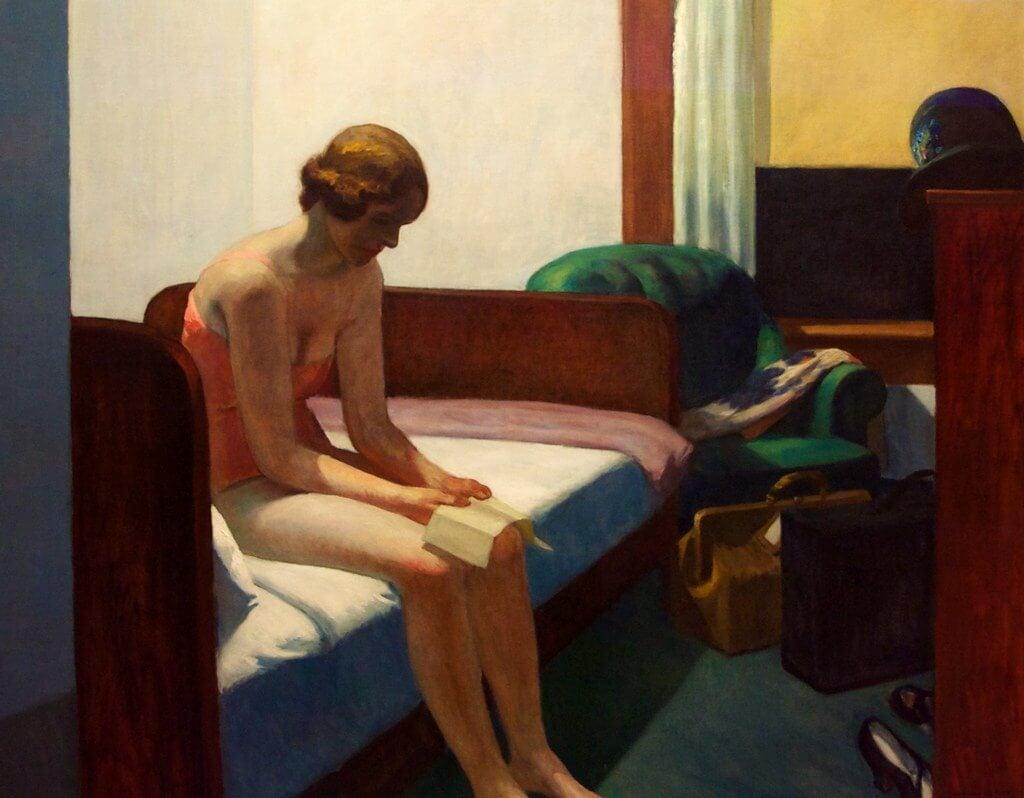 Cuadro 'Habitación de hotel' de Hopper
