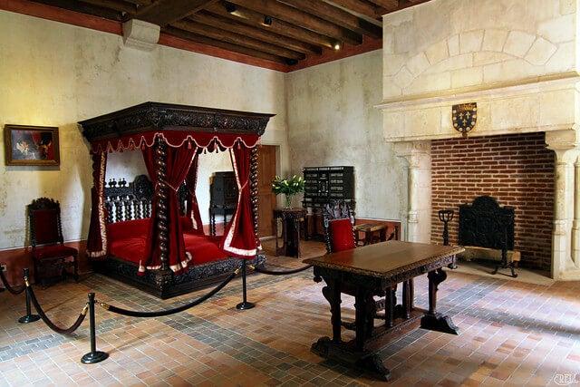 Habitación de Da Vinci en Clos Luce