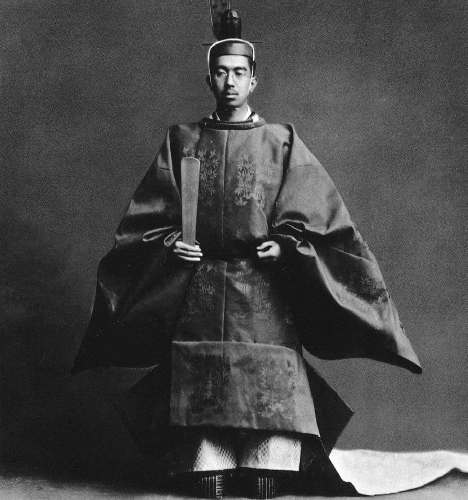 Emperador Hirohito en su coronación