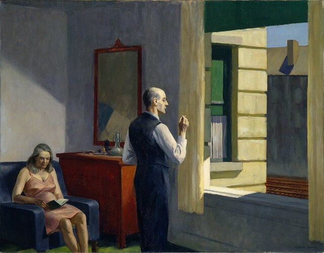 Cuadro 'Hotel by a Railroad' de Hopper