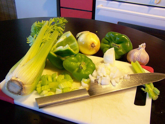 Ingredientes de la comida cajún