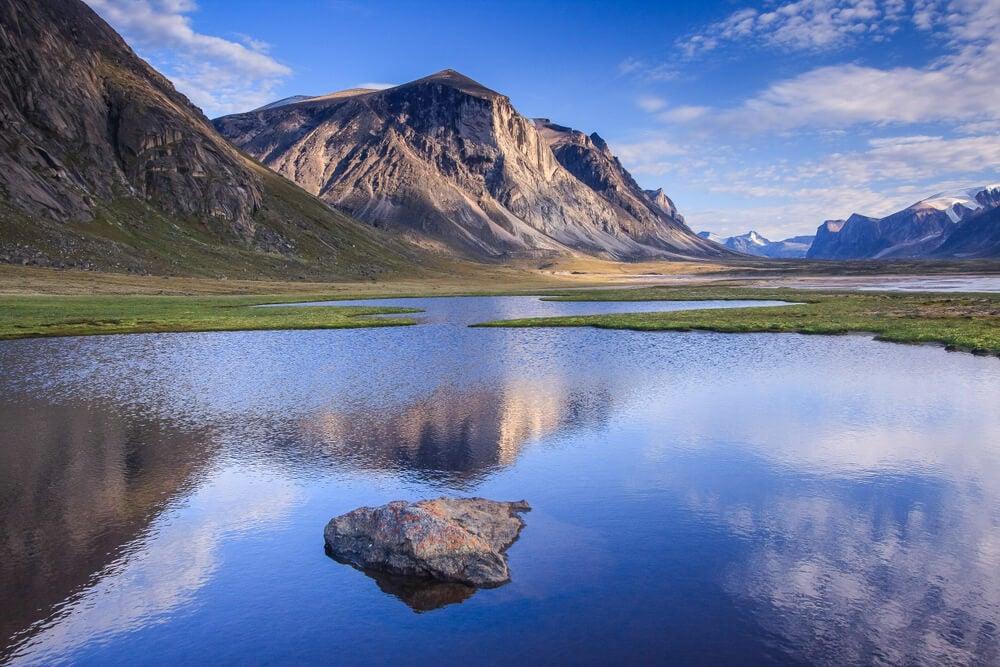 Paisaje de la isla de Baffin