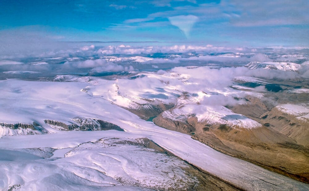 Isla Ellesmere, uno de los desiertos de hielo en Canadá