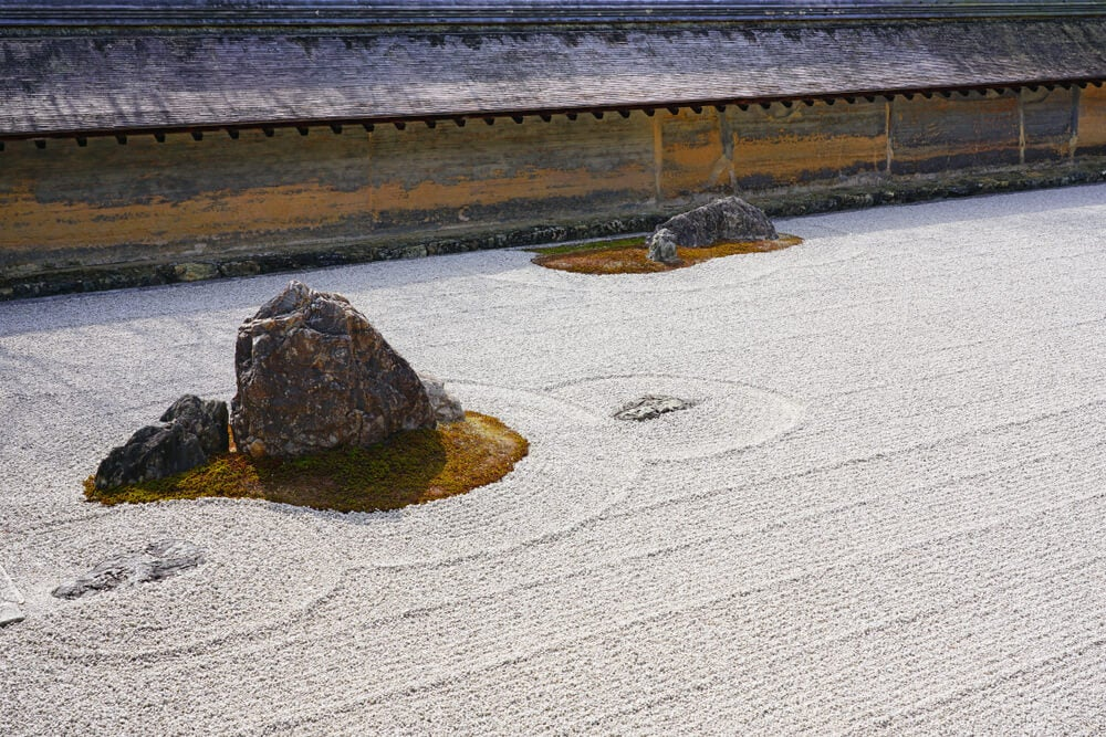 Piedras del jardín de Ryoan-ji