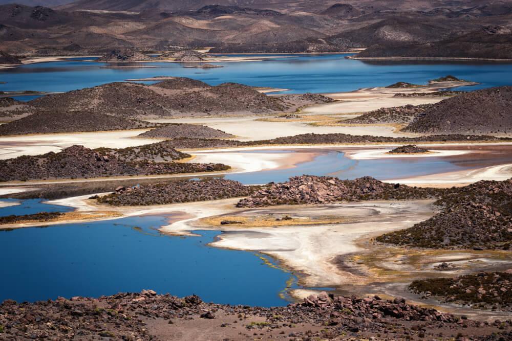 Lagunas de Cotacotani en Chile