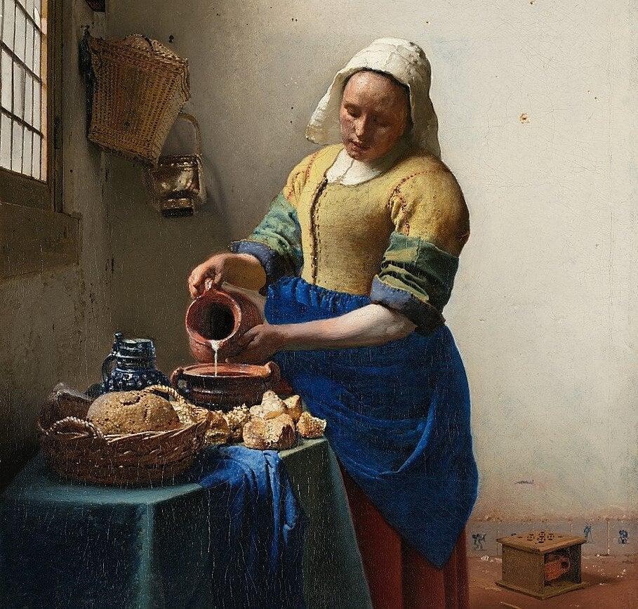 Cuadro 'La lechera' de Vermeer