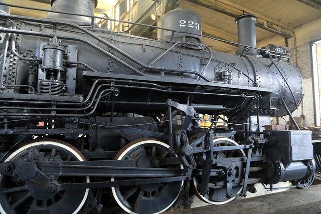 Locomotora en el Museo de Historia de Savannah