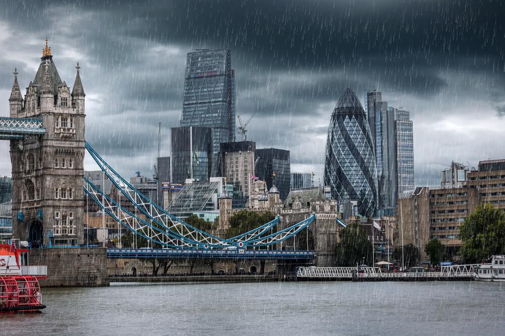 Imagen de Londres lluvioso