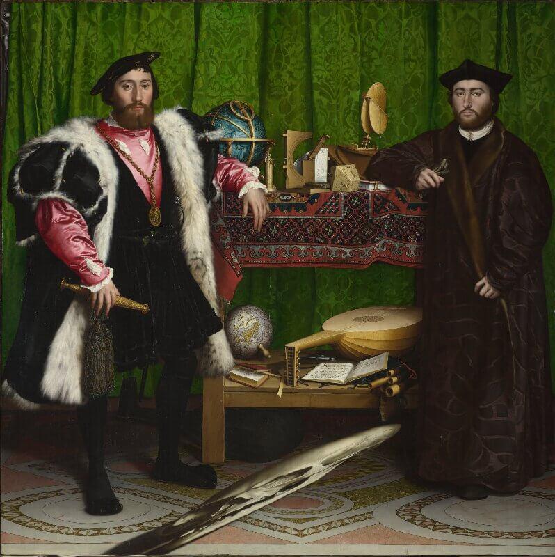 """Cuadro """"Los embajadores de Hans Holbein"""