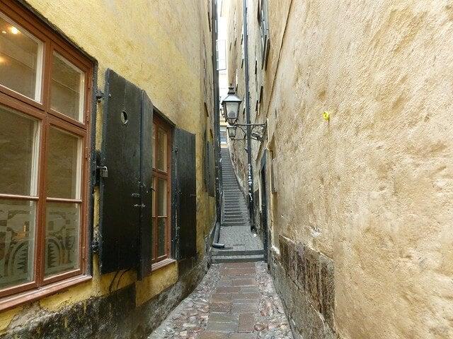 Mårten Trotzigs Gränd en Estocolmo