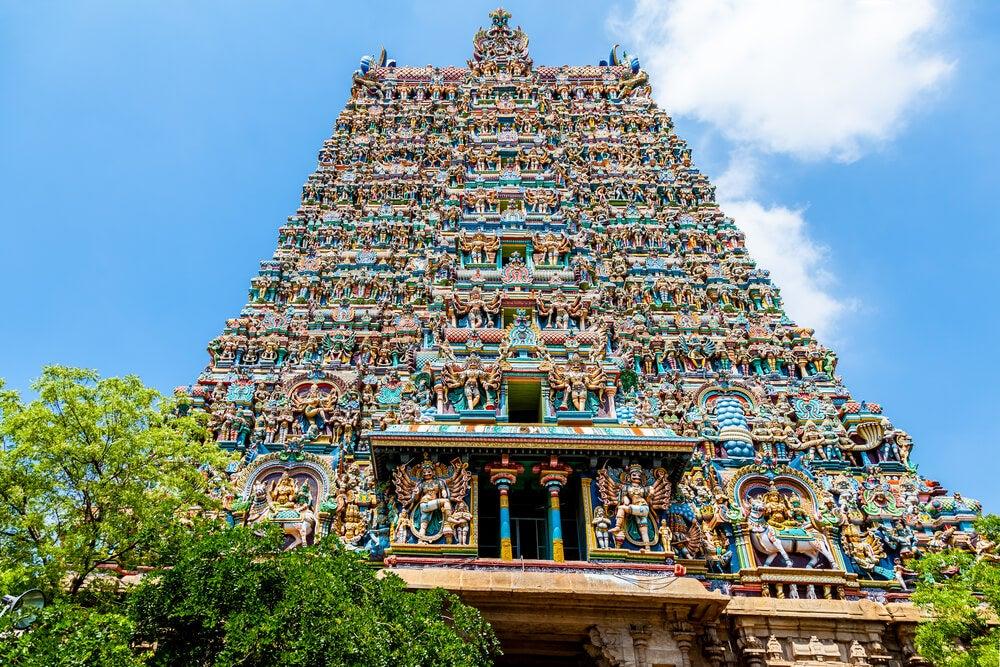 Templo hinduista de Meenakshi, una de las religiones de Asia