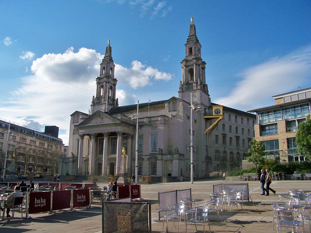 Vista de Millenium Square en Leeds