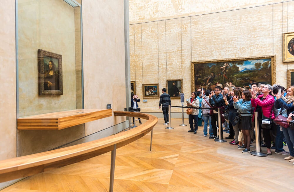 La Mona Lisa en el Museo del Louvre