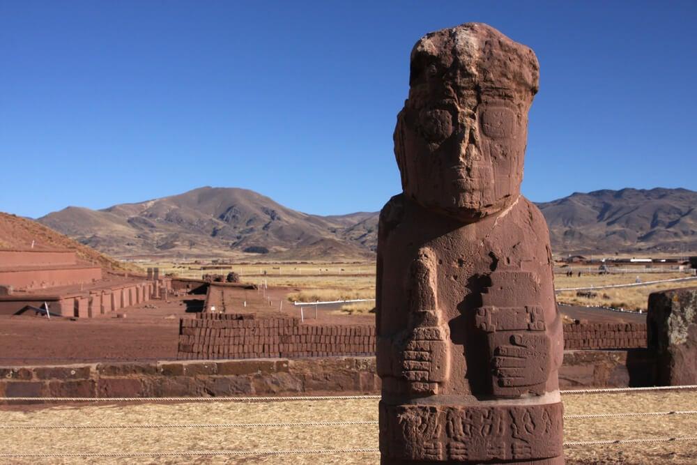 Monolito en Tiwanaku