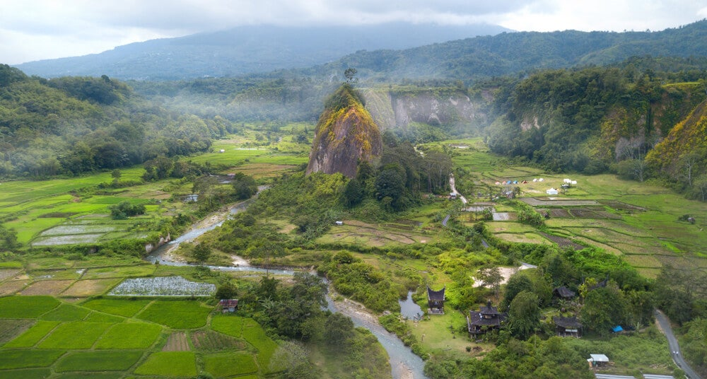 Ngarai Sianok Canyon en Sumatra