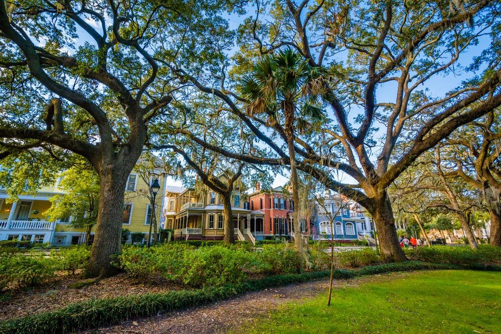 Parque Forsyth en la ciudad de Savannah