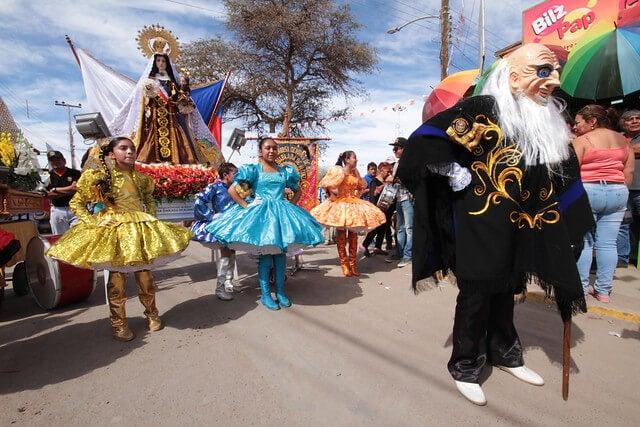 Virgen del Carmen en el desfile