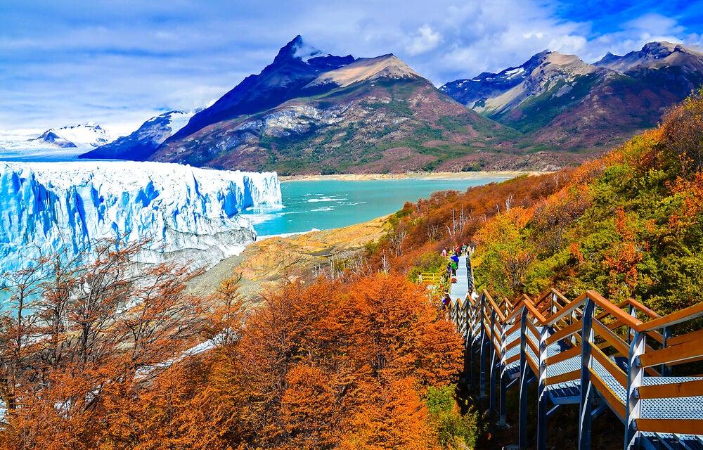 Pasarela para visitar el Perito Moreno