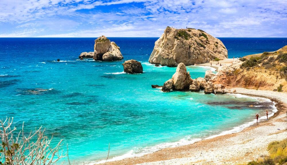 Playa Petra tou Romiou en la isla de Chipre