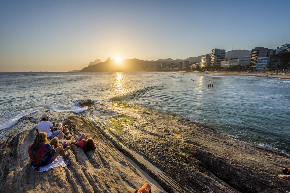 Playa de Arpoador en Río de Janeiro