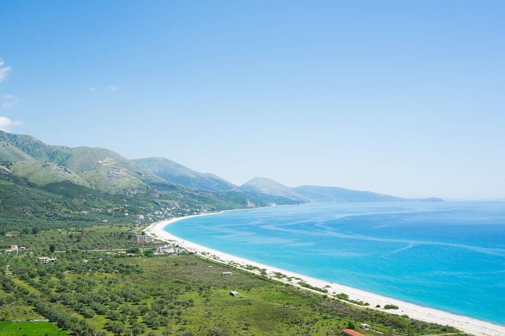 Playa de Borsch en Albania