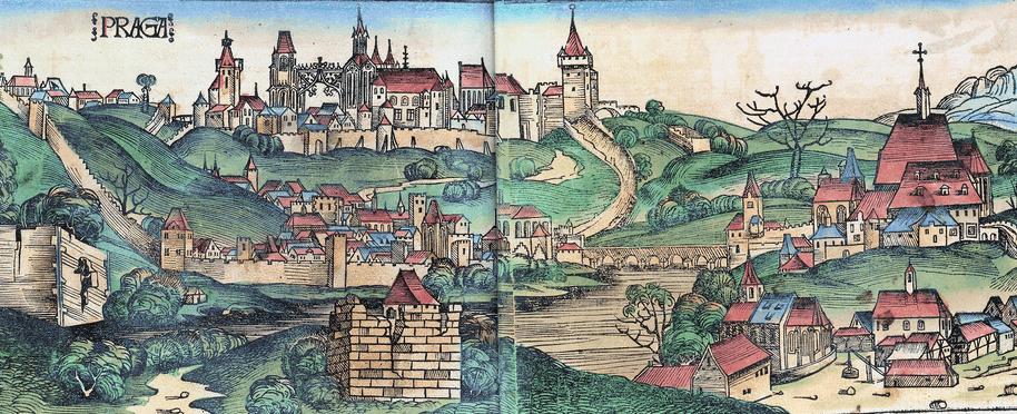 Xilografía de Praga en la Crónicas de Núremberg