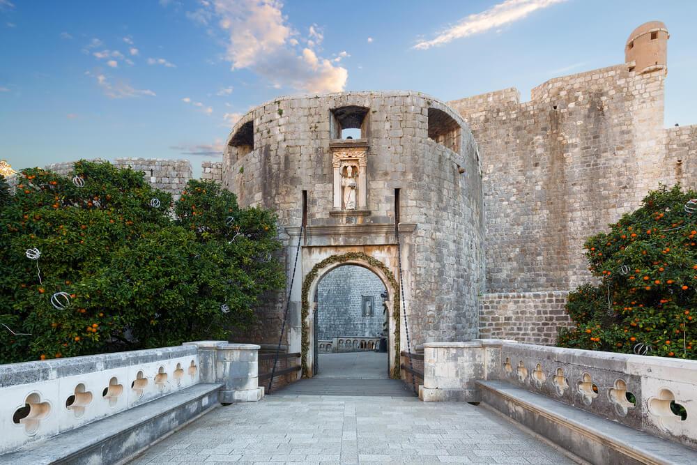 Puerta de Pile, uno delos monumentos de Dubrovnik