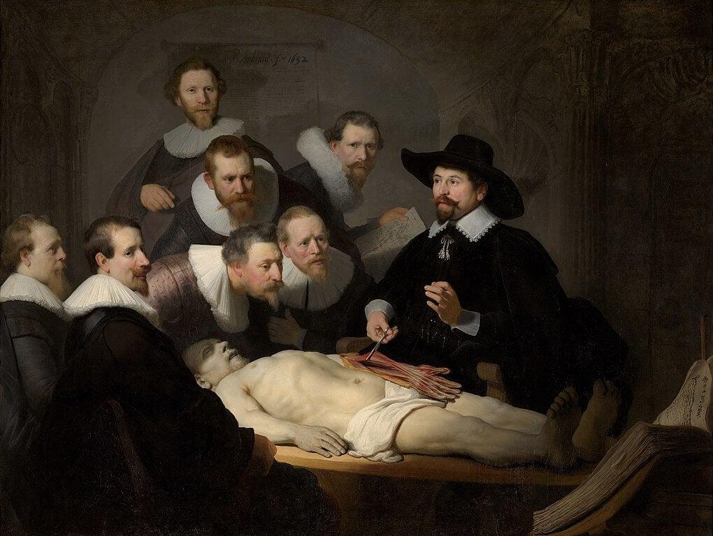 Lección de anatomía de Rembrandt en la Galería Mauritshuis