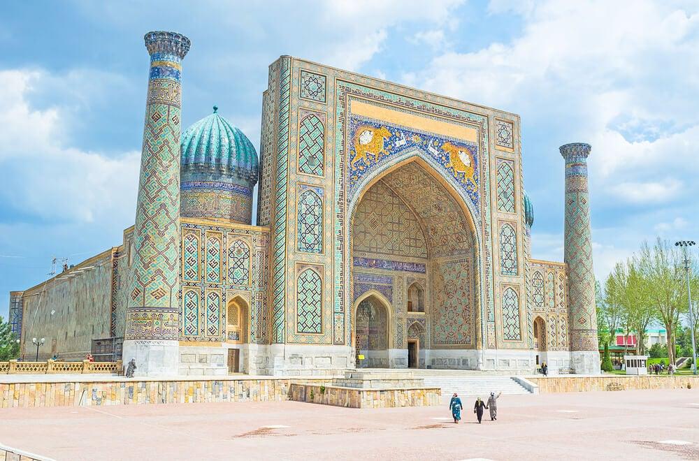 Vista de Samarkanda en la Ruta de la Seda