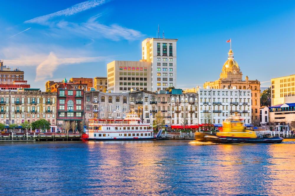 Vista de la ciudad de Savannah
