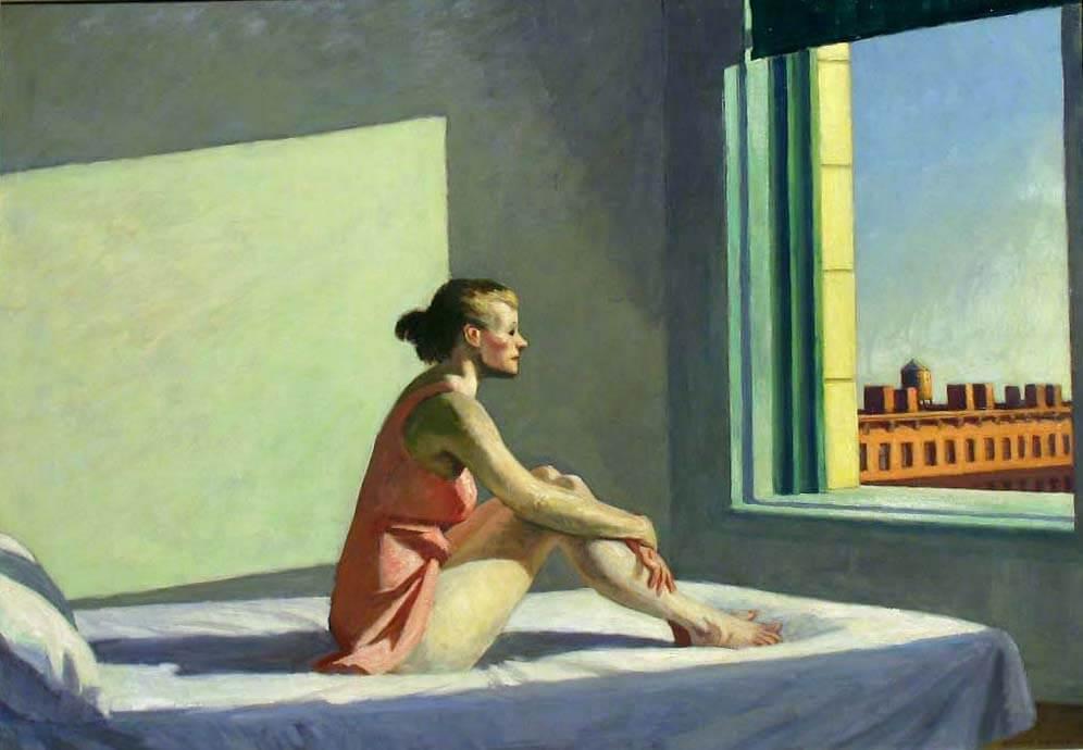 Cuadro 'Sol de la mañana' de Hopper