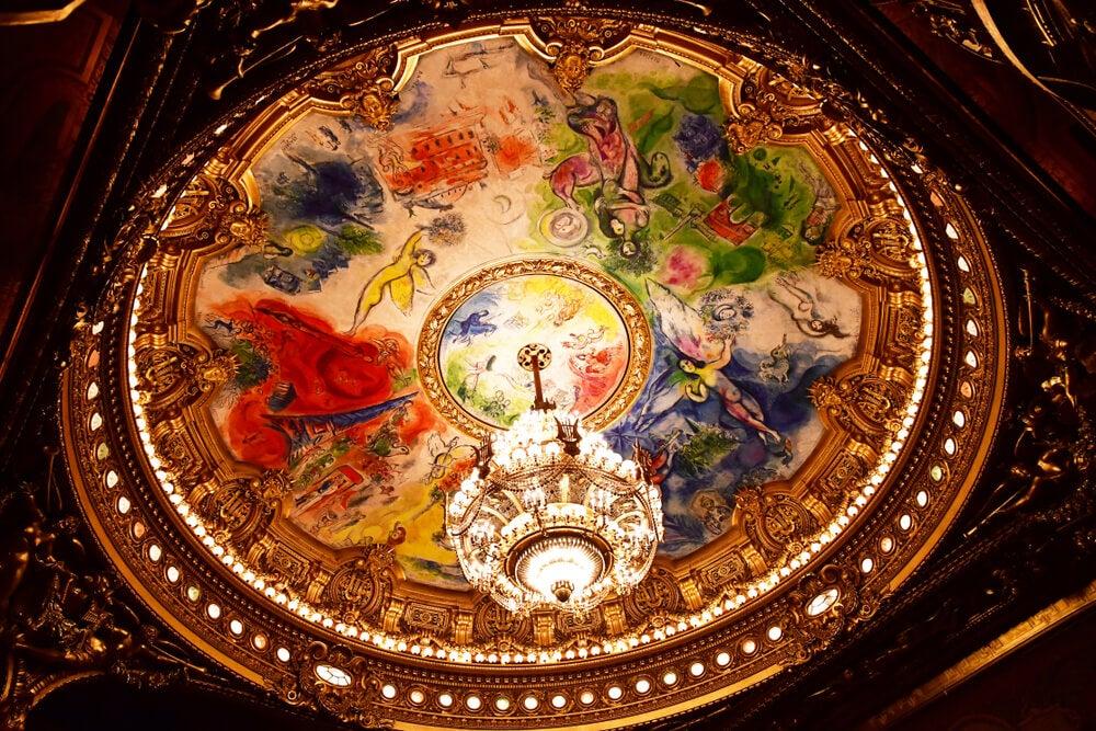 Techo de la Ópera de París, de Marc Chagall
