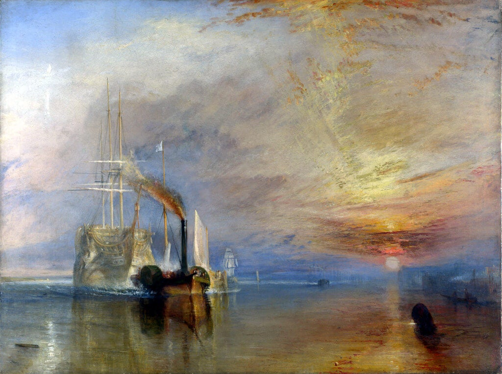 "Cuadro ""El temerario"" de William Turner"